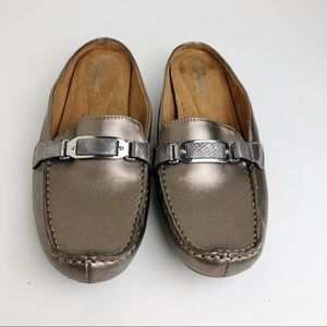 Naturalizer Metallic Taupe Loafers Size 8.5